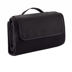 Patura de picnic din lana 130x145 cm, Everestus, PC03, peva, poliester, negru, saculet de calatorie inclus