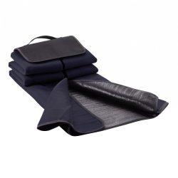 Patura de picnic din lana 130x145 cm, Everestus, PC02, peva, poliester, albastru navy, saculet de calatorie inclus