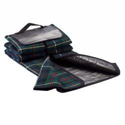Patura de picnic tartan 130x145 cm, Everestus, BM02, acril, pvc, negru, saculet de calatorie inclus