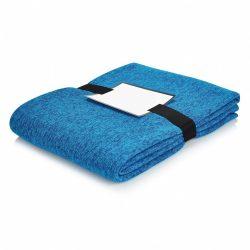 Patura moale si confortabila 150x120 cm, Everestus, LY01, poliester, albastru, saculet sport inclus