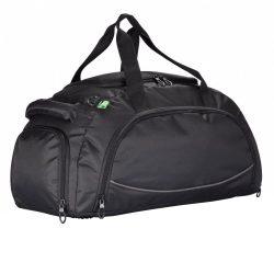 Geanta sport, pvc free, Everestus, FA, poliester 600D, negru, saculet de calatorie si eticheta bagaj incluse