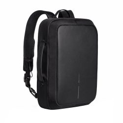 Rucsac si servieta antifurt, elemente reflectorizante, laptop 15.6 inch, XD by AleXer, BY, poliester, pu, negru