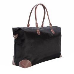Geanta de voiaj de weekend, Everestus, TL, microfibra, negru, saculet de calatorie si eticheta bagaj incluse