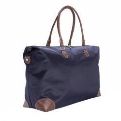 Geanta de voiaj de weekend, Everestus, TL, microfibra, albastru navy, saculet de calatorie si eticheta bagaj incluse