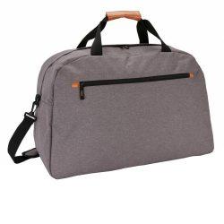 Geanta de voiaj eleganta, Everestus, FN, poliester 600D, pu, gri, saculet de calatorie si eticheta bagaj incluse