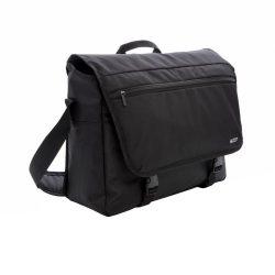 Geanta Laptop 15 inch, RFID, pvc free, Swiss Peak by AleXer, MR, poliester 600D si 1680D, negru, breloc inclus