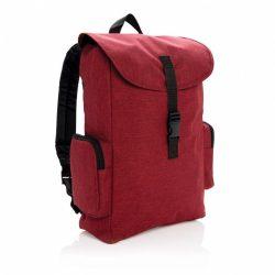 Rucsac Laptop 15.6 inch cu catarama, Everestus, BE, poliester 600D, rosu, saculet de calatorie si eticheta bagaj incluse