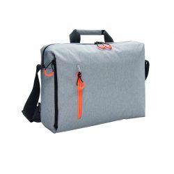 Geanta laptop 15.6 inch, fara PVC, XD by AleXer, JU010, poliester, gri, breloc inclus