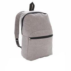 Rucsac clasic, compact si usor, buzunar frontal, Everestus, CC, poliester 600D, gri, saculet si eticheta bagaj incluse