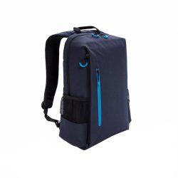 Rucsac Laptop 15 inch, RFID, mufa usb, buzunare laterale, XD by AleXer, LA, poliester, albastru navy