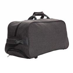 Geanta troler de voiaj, Everestus, BC, poliester 600D de mare densitate, antracit, saculet si eticheta bagaj incluse