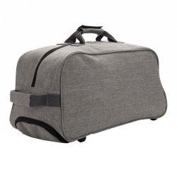 Geanta troler de voiaj, Everestus, BC, poliester 600D de mare densitate, gri, saculet de calatorie si eticheta bagaj incluse