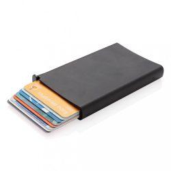 Portcard securizat RFID, maxim 6-10 carduri, Everestus, 20IAN092, Aluminiu, ABS, Negru