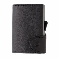 Portofel securizat RFID pentru carduri, bacnote si monezi, Everestus, CE, pu, aluminiu, negru, 21x65x98 mm