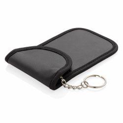 Husa pentru chei, antifurt, cu protectie RFID, Everestus, 9IA19075, Poliuretan, Negru, 8x85x125 mm