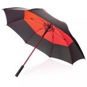 Umbrela 27 inch, deschidere automata, rezistenta la furtuna, Everestus, 20IAN039, Poliester, ABS, Rosu