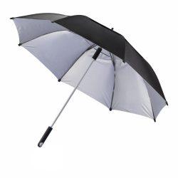 Umbrela 27 inch de furtuna, 2 straturi, material rezistent la apa, XD by AleXer, HE, poliester, aluminiu, negru, breloc inclus