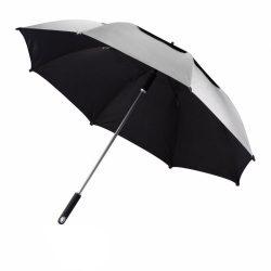 Umbrela 27 inch de furtuna, 2 straturi, material rezistent la apa, XD by AleXer, HE, poliester, aluminiu, gri