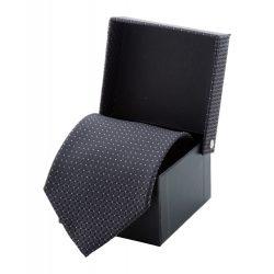 Cravata, 1500×100 mm, Everestus, 20FEB4285, Poliester, Gri, Negru