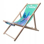 Scaun de plaja, 1250×540×32 mm, Everestus, 20FEB10881, Lemn, Poliester, Alb, Natur