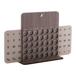 Calendar perpetuu, 250x154x60 mm, Everestus, 20SEP0257, Lemn, Natur
