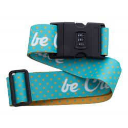 Custom luggage belt, 1580×50 mm, Everestus, 20FEB7807, Poliester, Alb