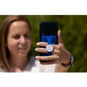 Suport portcard pentru telefon, 88×56×5 mm, Everestus, 20FEB10569, ABS, Silicon, Albastru, Alb