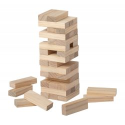 Tower game, 50×175×50 mm, Everestus, 20FEB8650, Lemn, Natur
