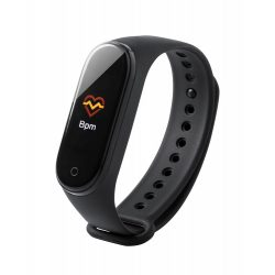 Smartwatch cu termometru, 255x22x11 mm, Everestus, 20SEP0297, Plastic, Negru
