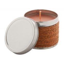 Lumanare parfumata, chocolate, ø64×50 mm, Everestus, 20FEB3705, Metal, Maro, Gri