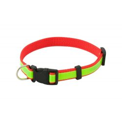 Visibility dog's collar, 500×18 mm, Everestus, 20FEB7943, Poliester, Rosu