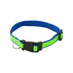 Visibility dog's collar, 500×18 mm, Everestus, 20FEB7942, Poliester, Albastru