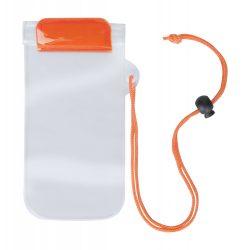 Husa impermeabila pentru telefon, 95×230 mm, Everestus, 20FEB10849, Plastic, Portocaliu, Transparent