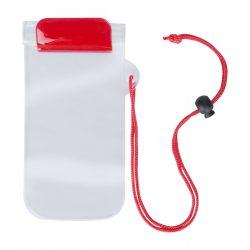 Husa impermeabila pentru telefon, 95×230 mm, Everestus, 20FEB10851, Plastic, Rosu, Transparent