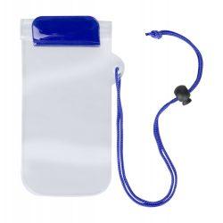 Husa impermeabila pentru telefon, 95×230 mm, Everestus, 20FEB10847, Plastic, Albastru, Transparent