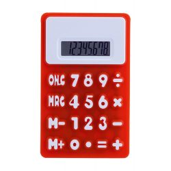 Calculator, 80×7×130 mm, Everestus, 20FEB5026, Silicon, Rosu