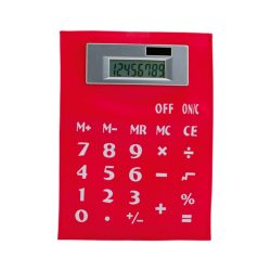 Calculator, 145×8×195 mm, Everestus, 20FEB5023, PVC, Rosu