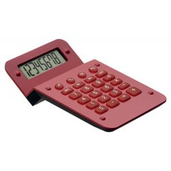 Calculator, 80×26×124 mm, Everestus, 20FEB5009, Plastic, Rosu