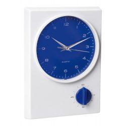 Ceas de birou, 178×247×44 mm, Everestus, 20FEB3515, Plastic, Albastru