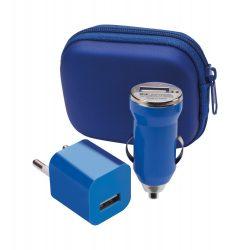 Usb charger set, 60×35×75 mm, Everestus, 20FEB12769, Plastic, Albastru, Alb