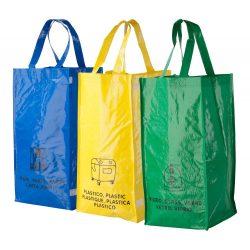 Set 3 sacose pentru deseuri, 690×450×230 mm, Everestus, 20FEB6449, Material netesut, Multicolor