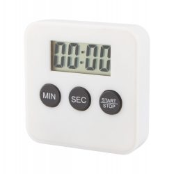 Timer de bucatarie, 60×60×16 mm, Everestus, 20FEB7305, Plastic, Alb