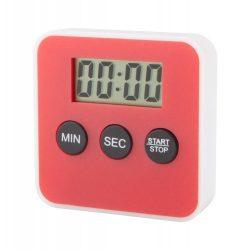 Timer de bucatarie, 60×60×16 mm, Everestus, 20FEB7304, Plastic, Rosu