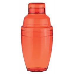 Cocktail shaker, 300 ml, ø80×165 mm, Everestus, 20FEB7788, Plastic, Rosu