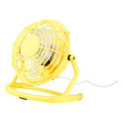 Mini desk fan, 95×150×147 mm, Everestus, 20FEB16565, Plastic, Galben