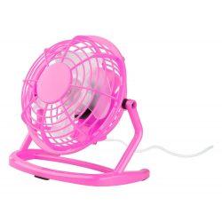 Mini desk fan, 95×150×147 mm, Everestus, 20FEB16562, Plastic, Roz