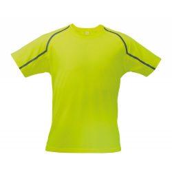 Sport t-shirt, unisex, M, S-XXL, 20FEB16722, Poliester, Galben, Gri