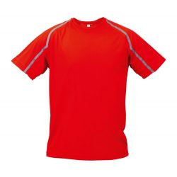 Sport t-shirt, unisex, S, S-XXL, 20FEB16728, Poliester, Rosu, Gri