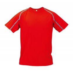 Sport t-shirt, unisex, XXL, S-XXL, 20FEB16730, Poliester, Rosu, Gri