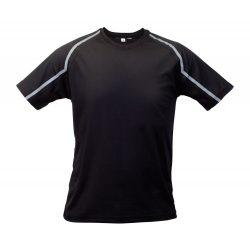 Sport t-shirt, unisex, L, S-XXL, 20FEB16711, Poliester, Negru, Gri
